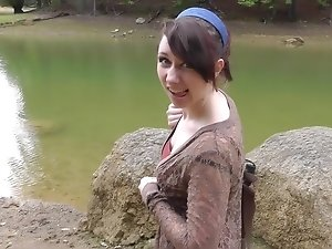 Cheyenne in amateur sex scene filmed in the outdoors