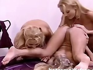 Blonde Lesbians Lick And Suck Everything 1
